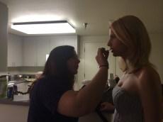 32 Melissa Touching up Anina's Makeup
