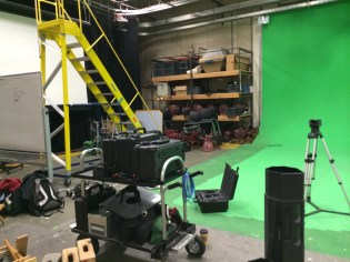 44 Setting up for the Green Screen Shoot