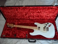 08 Fender Blacktop Strat in Fender Case