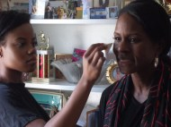 42 Makeup Artist Brooke Working on LaRita Shelby