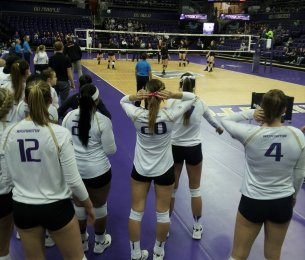 06 The Volleyball Team Prepares to Play