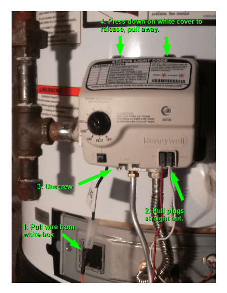 rheem water heater thermostat