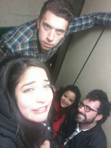 trapped in an elevator