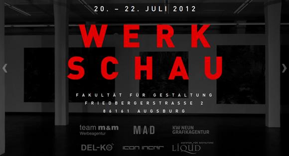 WERKSCHAU 2012 | HS Augsburg