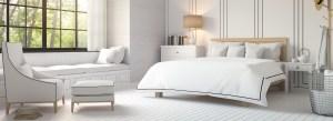 Bedroom with Tyndall Pedic Mattress