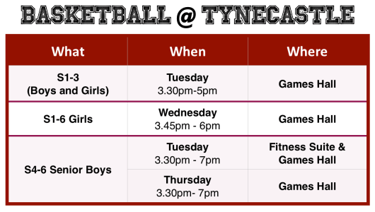 Basketball @ Tynecastle