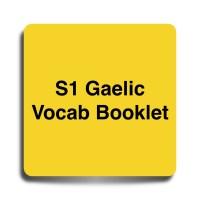 S1 Gaelic Vocab Booklet