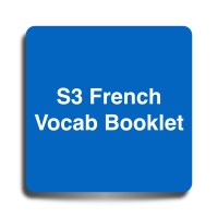 S3 French Vocab Booklet