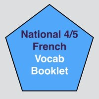 Nat 4/5 French Vocab Booklet