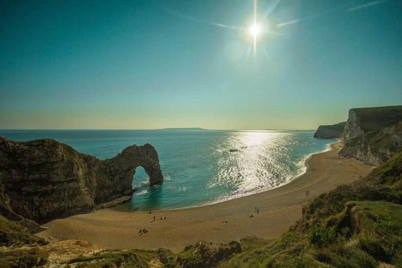 sun reflecting on the sea