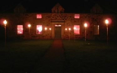 night-time hall