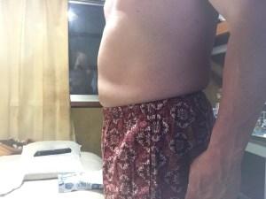 EMS腹筋ベルトを2週間使用