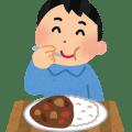 カレーを食べている人のイラスト