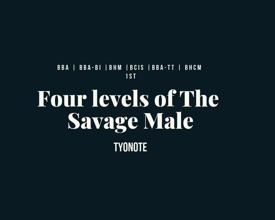 Savage Male four levels