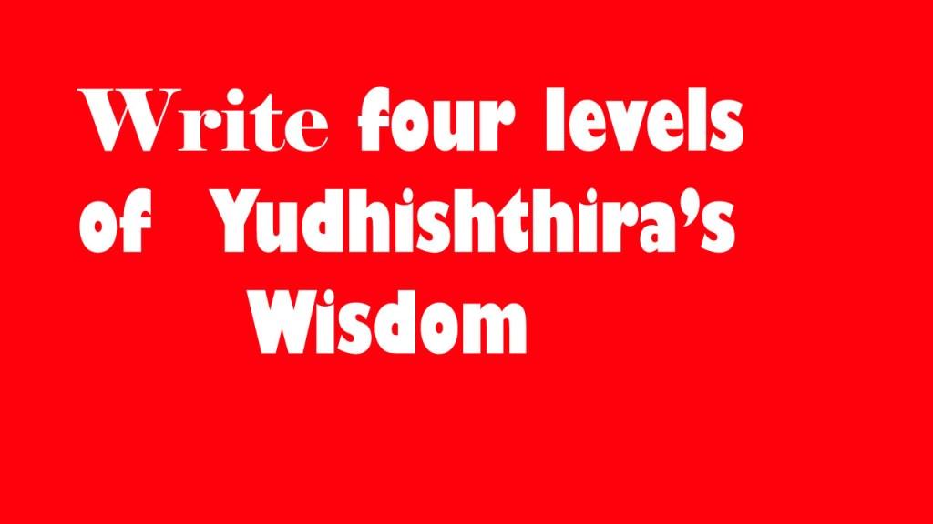 Yudhishthira's wisdom four levels