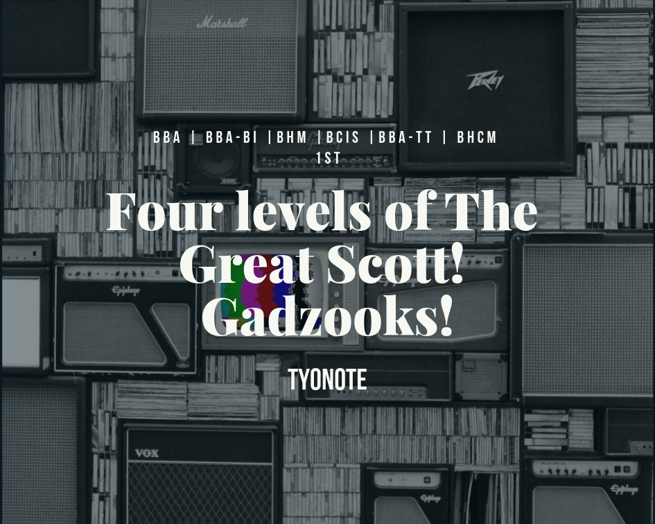 Great Scott Gadzooks four levels