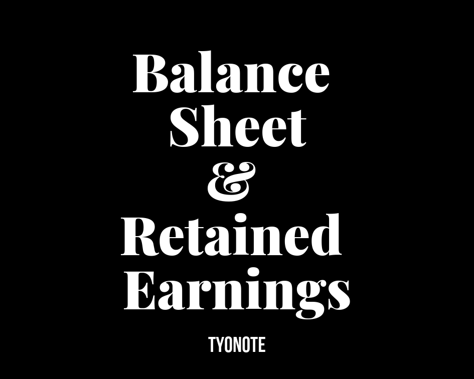 balance sheet and retained earnings
