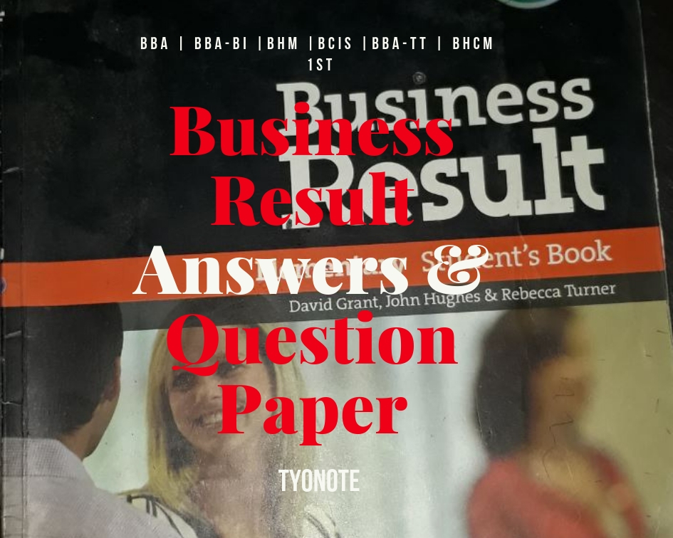 english i old question paper and business result answer key