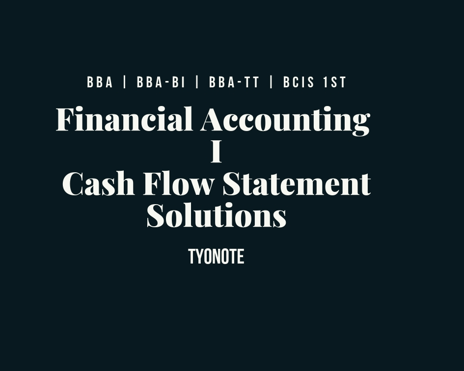 financial accounting cash flow statement (operating cash flow) solution example