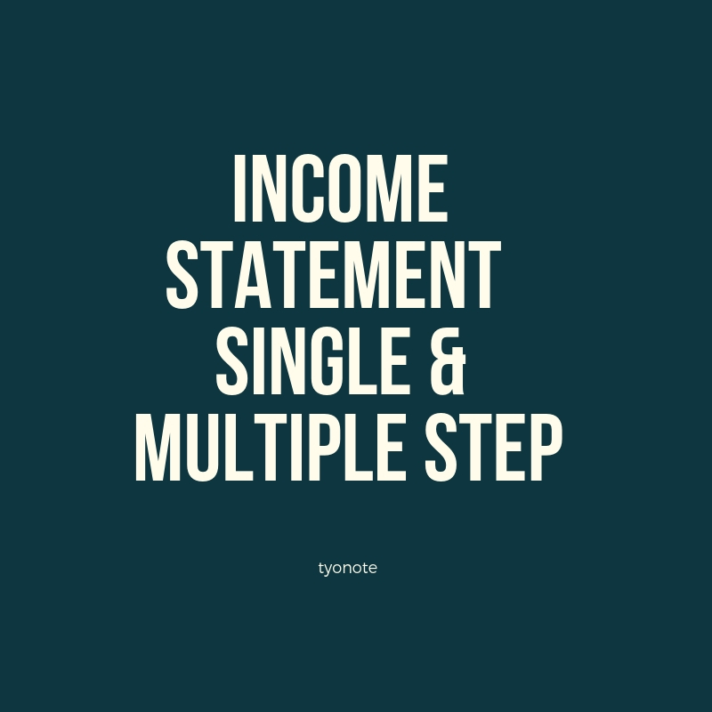 income statement and multi step income process