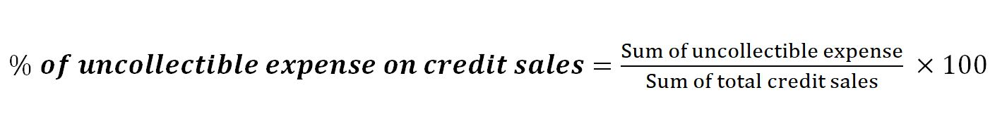 credit sales percentage formula