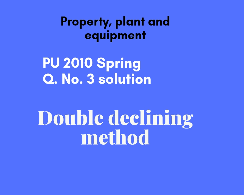 double declining method example