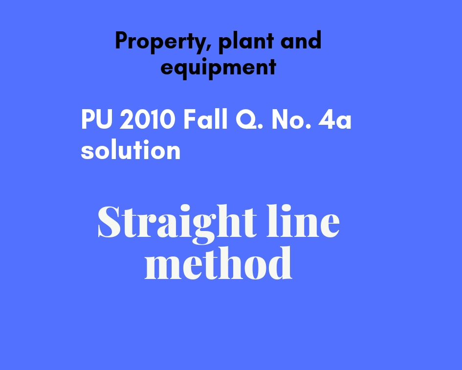 straight line method