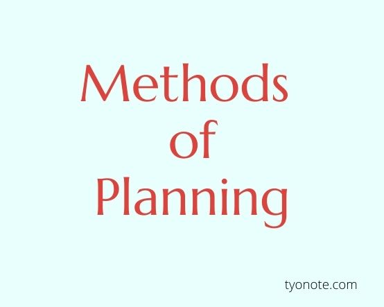 methods of planning