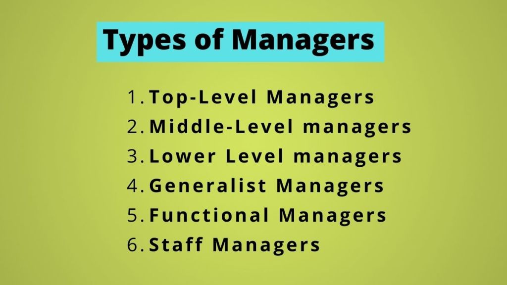 6 types of managers