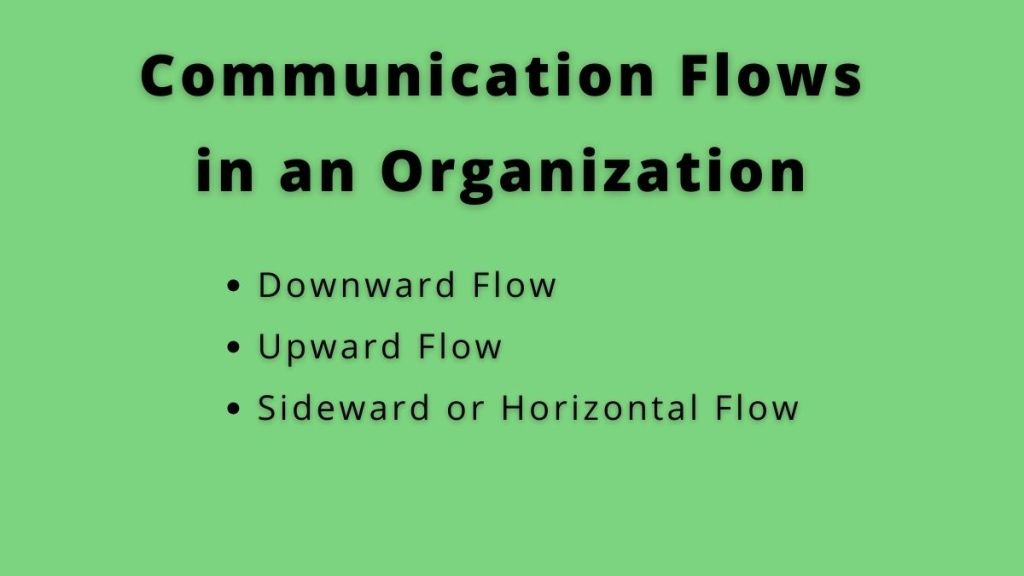 communication flow in an organization