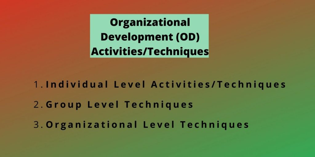 OD Techniques