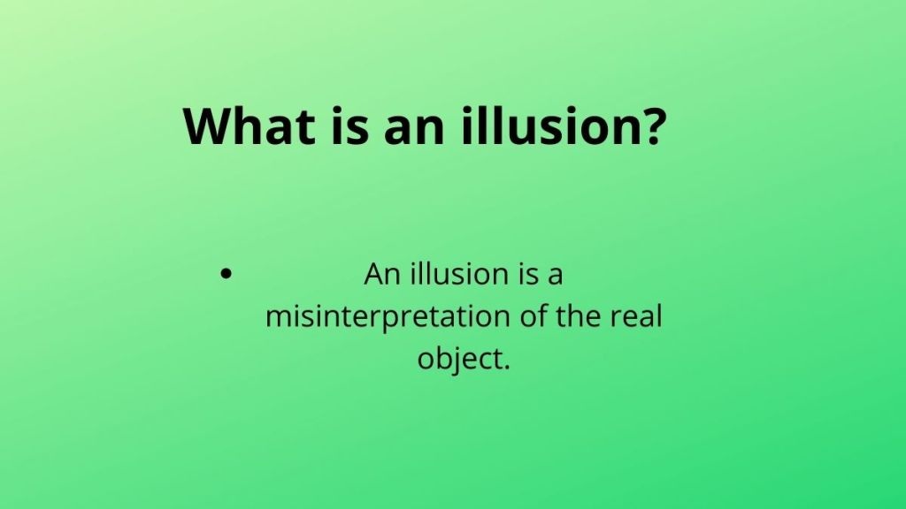 what is an illusion