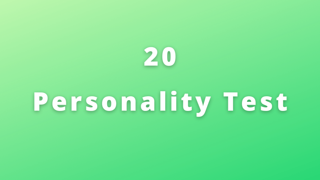 20 personality test