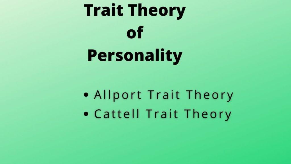 trait theory personality