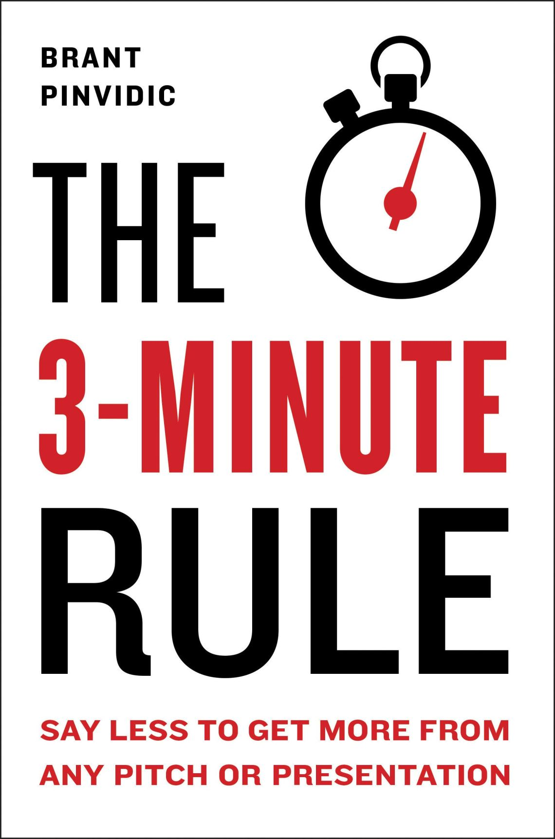 the 3 minute rule one of public speaking books