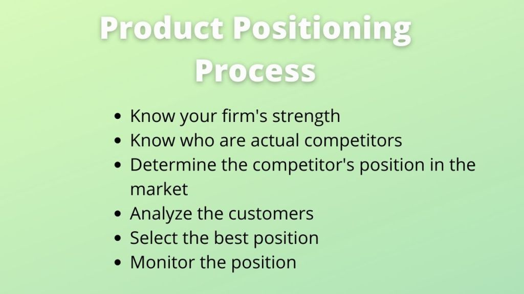 product positioning process