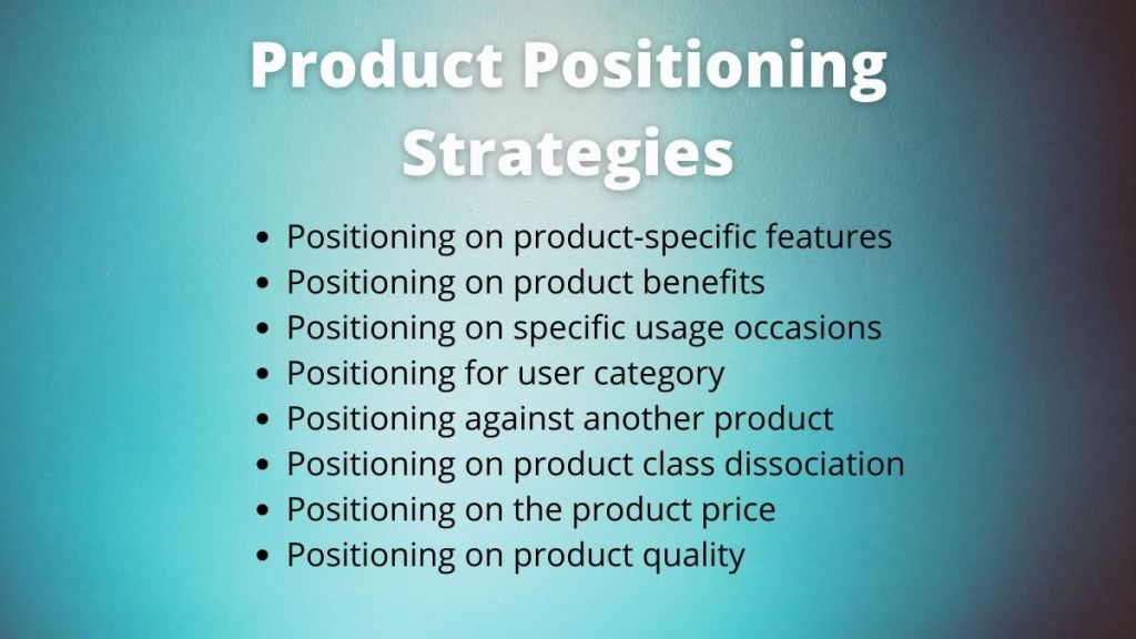 product positioning strategies