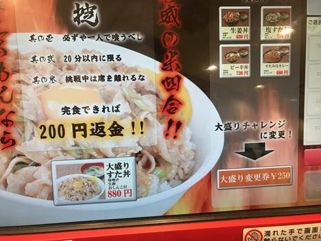 すた丼大盛りチャレンジ北千住メニュー