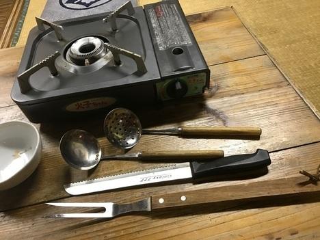 小山大衆食堂たんぽぽキャベツ丸鍋コンロと備品