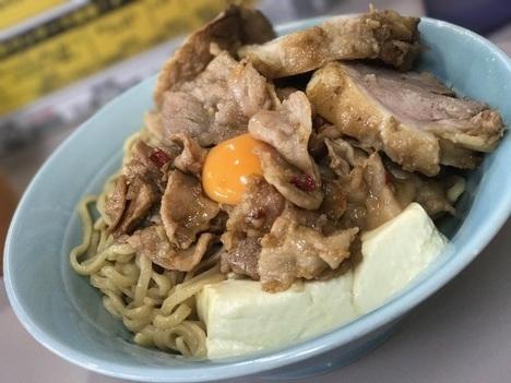 立川マシマシ足利DXマシライス麺と豆腐に変更