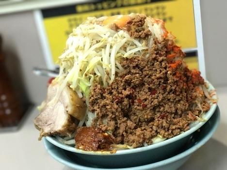 立川マシマシ足利汁なし麺をごはんと豆腐に変更大盛り