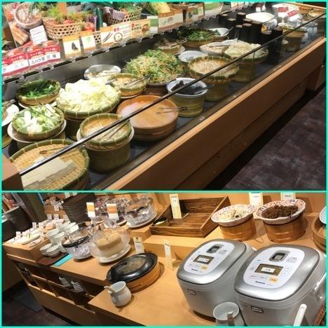 しゃぶ葉加須店平日時間無制限しゃぶしゃぶ食べ放題陳列
