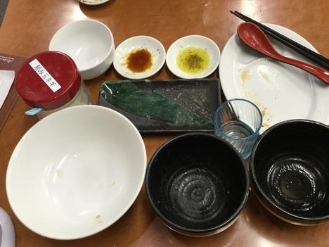 西大島家系ラーメン春樹つけ麺山盛り完食