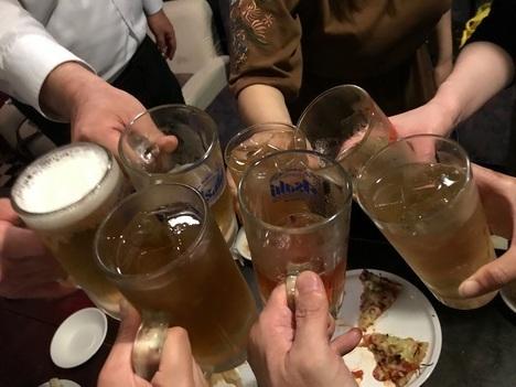鶴ヶ島居酒屋すうちゃんデカ盛り大食いオフ会乾杯