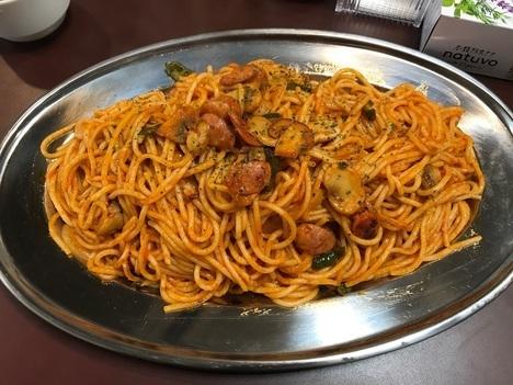 スパゲティオーガキロ盛りナポリタン真上