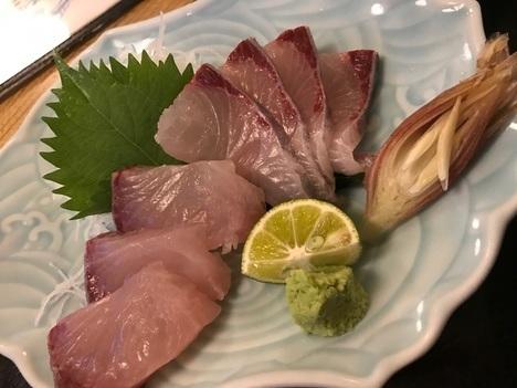 徳島鳴門魚榮日替わりカンパチ刺し身