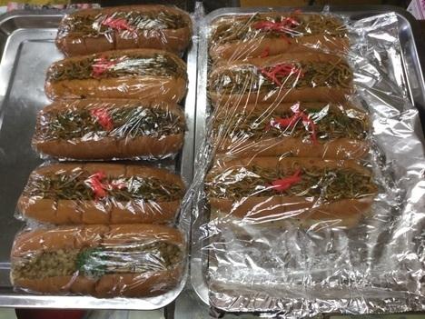 まんぷく処たぬき100円焼きそばパン大食いギブアップ