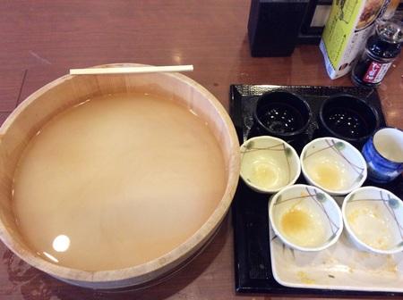 丸亀製麺釜揚げうどん半額DAYデカ盛り完食