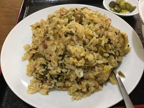 高崎市新町台湾料理隆福園高菜チャーハン大盛り