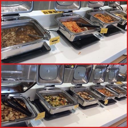 上里カンターレのイタリアンビュッフェのパスタと惣菜類